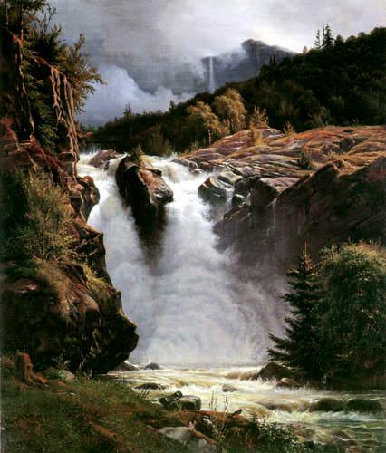 Louis Gurlitt - Norwegian Waterfall