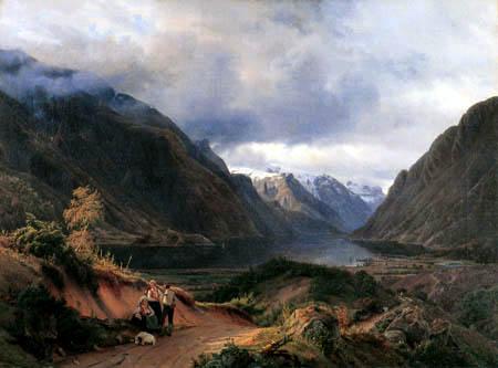 Louis Gurlitt - Norwegian hills