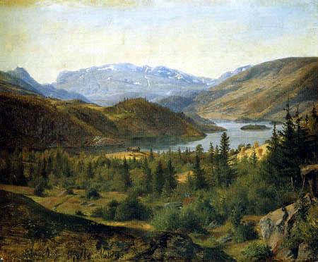 Louis Gurlitt - Hjelle in Valders, Tile Fjord
