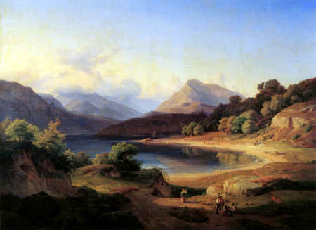 Louis Gurlitt - The northern part of the Gardasee