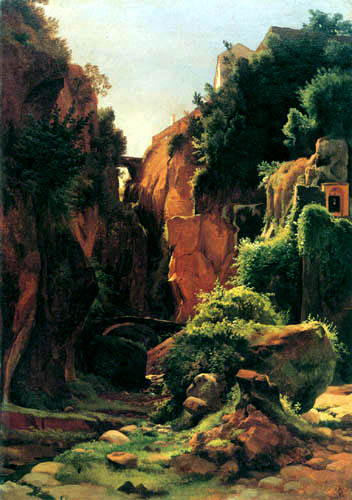 Louis Gurlitt - Rocky gorge near Sorrent