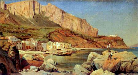 Louis Gurlitt - Fishing village on Capri
