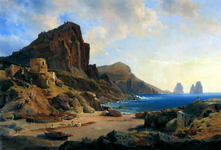 Louis Gurlitt - View of Capri with Marina Piccola