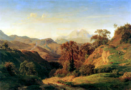 Louis Gurlitt - Rosate in the Apennine Mountains