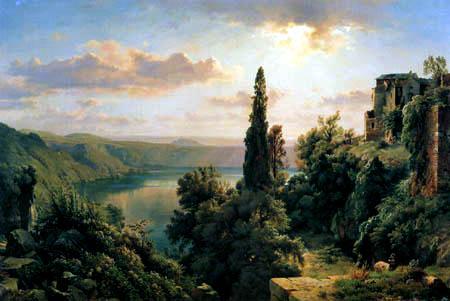 Louis Gurlitt - Lake Nemi in the Alban hills near Rome
