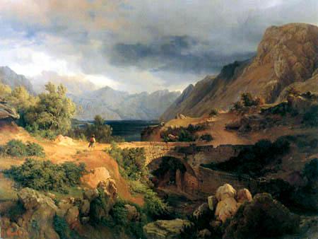 Louis Gurlitt - The bay of Kotor