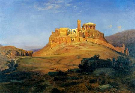 Louis Gurlitt - Acropolis at sunset