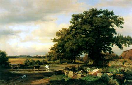 Louis Gurlitt - Farm in Holstein