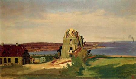 Louis Gurlitt - Mühlenruine von Düppel