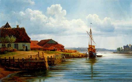 Louis Gurlitt - Schiffsanleger in Ekensund