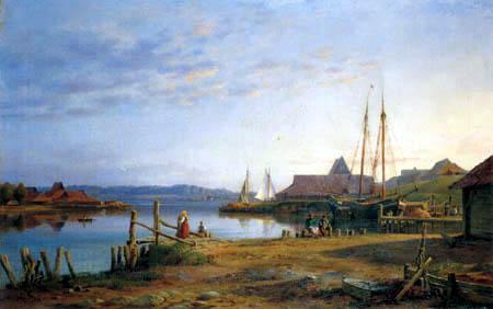 Louis Gurlitt - Ziegelei in Ekensund
