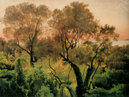 Louis Gurlitt - Hang mit Bäumen