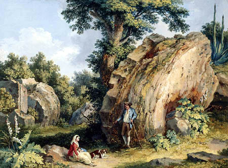 Jacob Philipp Hackert - Ruine des Olympeions in Agrigent