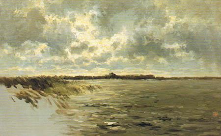 Carlos de Haes - Near Abcoude, Netherlands