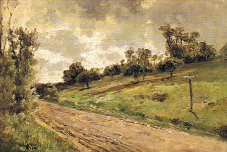 Carlos de Haes - Road near Villerville, Normandy