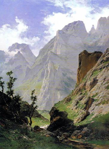 Carlos de Haes - Gorge de Mancorbo à les Picos de Europa