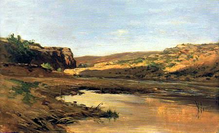 Carlos de Haes - Lagoon near Jaraba de Aragón
