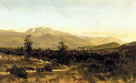 Carlos de Haes - Landschaft von Delfinado, Frankreich