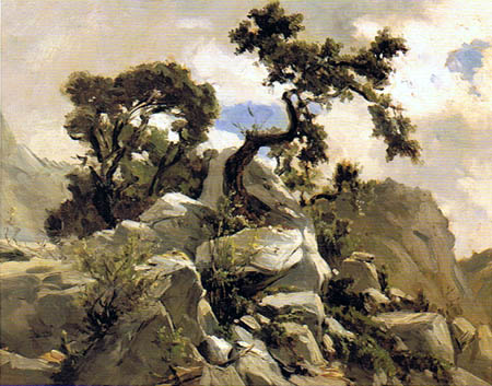 Carlos de Haes - La cime de Picos de Europa