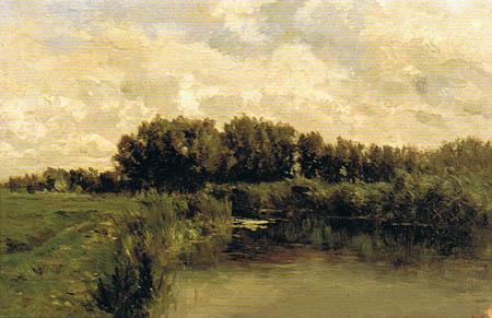 Carlos de Haes - Lagunes près de Frise, Pays-Bas