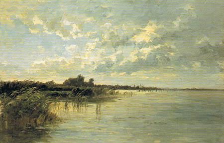 Carlos de Haes - Lagoons in Netherlands