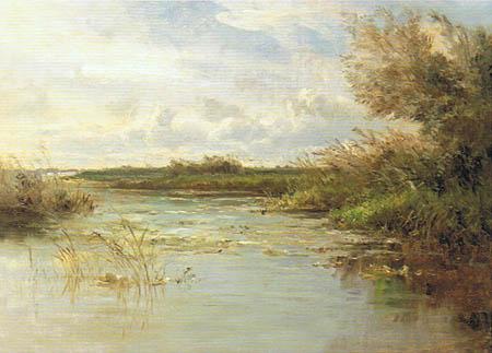 Carlos de Haes - Lagunen in Abcoude, Niederlande