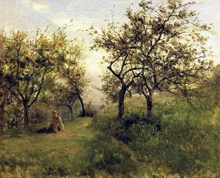 Carlos de Haes - Apfelbäume in der Normandie