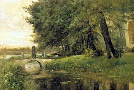 Carlos de Haes - Lake near Nijmegen, Netherlands