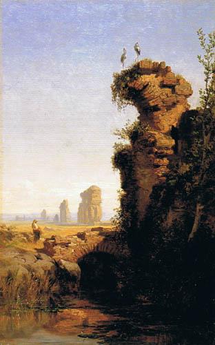 Carlos de Haes - Paysage avec ruines