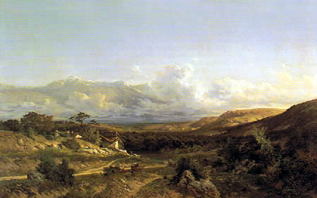 Carlos de Haes - Landscape near Delfinado, France