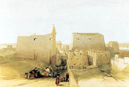 Louis Haghe - Temple of Luxor