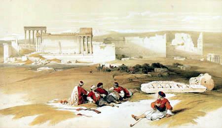 Louis Haghe - Ruinen von Baalbek