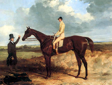 Harry Hall - Racehorse with Jockey