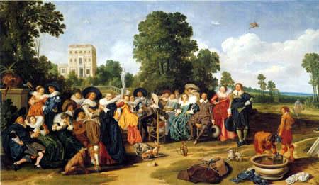 Dirck Hals - Garden party