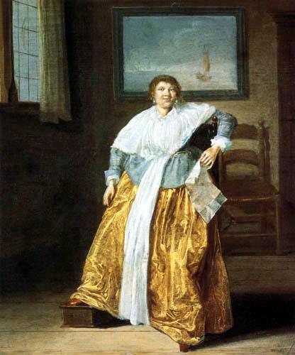 Dirck Hals - Sitzende Frau mit einem Brief