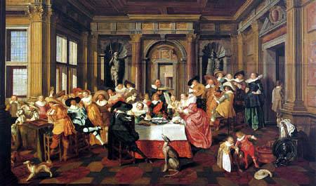 Dirck Hals - Feier in einem Renaissancesaal
