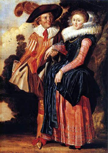 Dirck Hals - A Young Couple