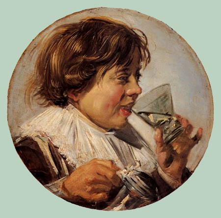 Frans Hals - Lachender Knabe mit Weinglas