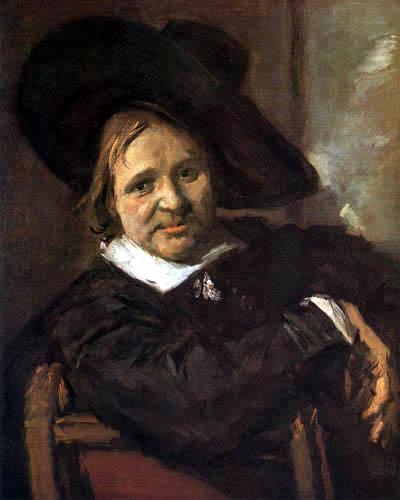 Frans Hals - Bildnis eines Mannes mit grossem Hut
