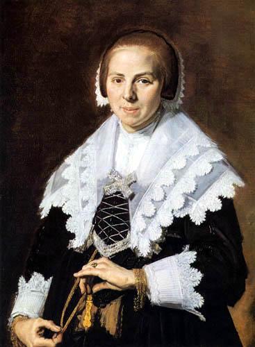 Frans Hals - Porträt einer Dame mit Fächer