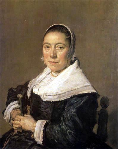 Frans Hals - Porträt einer sitzenden Dame