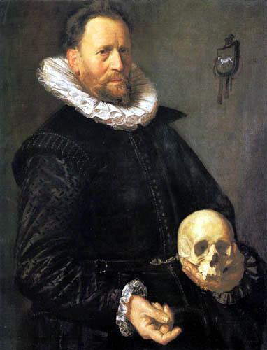 Frans Hals - Porträt eines Mannes mit Totenschädel