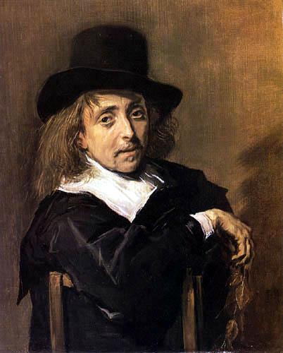 Frans Hals - Sitzender Mann mit einem Zweig