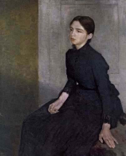 Vilhelm Hammershøi - Anna Hammershøi, The Sister of the Artist