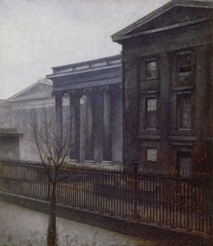 Vilhelm Hammershøi - The British Museum in the Winter