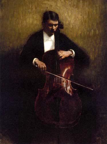 Vilhelm Hammershøi - The Cellist