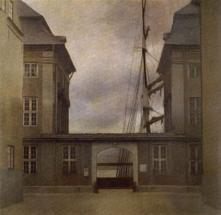 Vilhelm Hammershøi - The Buildings of the Asian Trading Company