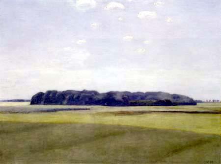 Vilhelm Hammershøi - A Forest Landscape