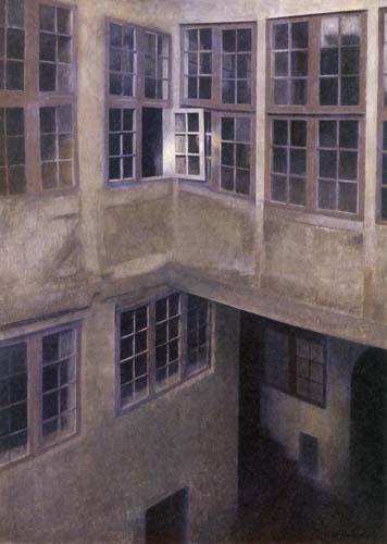 Vilhelm Hammershøi - An Old Courtyard in Christianshavn