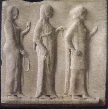 Vilhelm Hammershøi - A Greek Relief in the Louvre